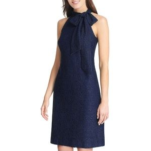 Vince Camuto Dresses - Vince Camuto (10) Navy Bow Halter cocktail dress